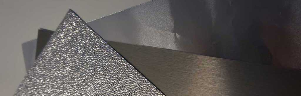 Aluminium foil in different alloys