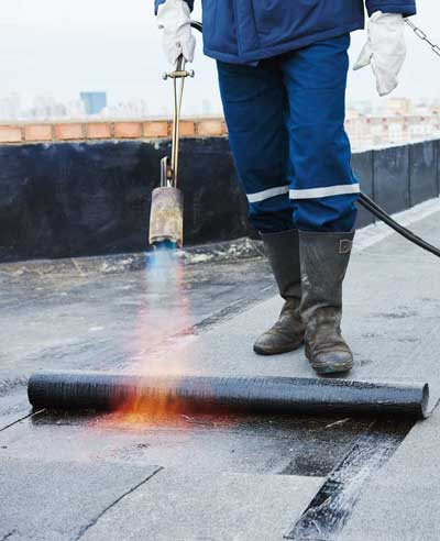 Bitumen membranes for roofs