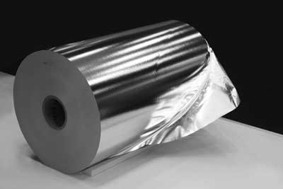 Aluminium foil as a reel